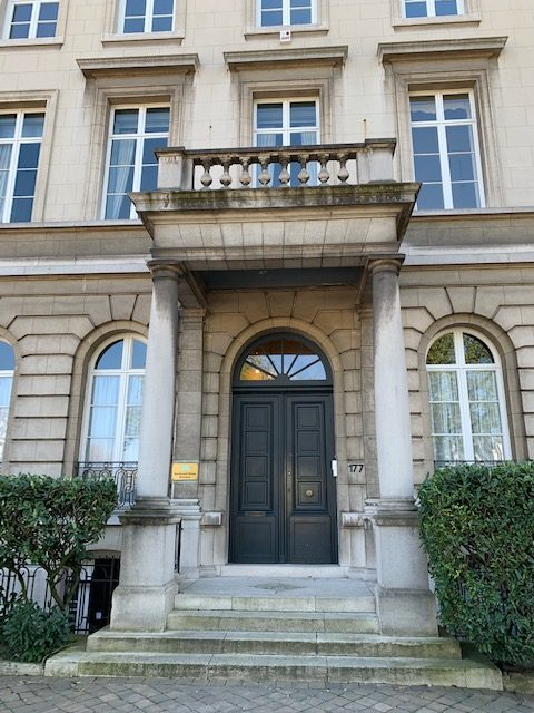 The front door of the Montessori House Brussels.