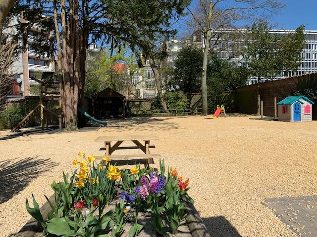 The garden on a sunny day.